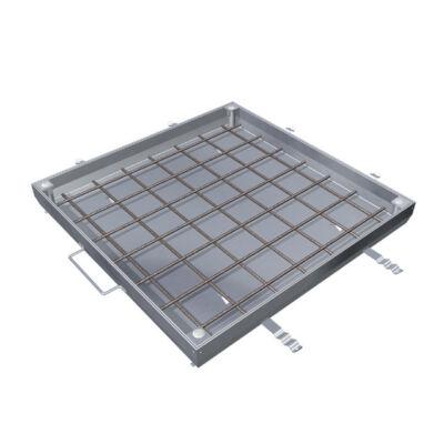Aco TopTek UNIFACE alumínium beton kitöltésű burkolható aknafedlap 600x600x72.5mm