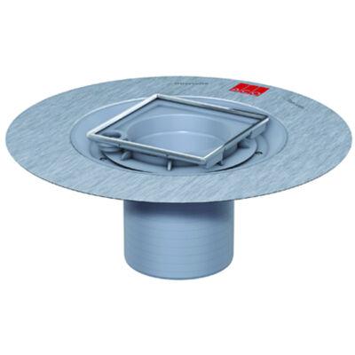 Aco szögletes padlóösszefolyó felsőrész Cr-Ni rácskerettel 150x150mm-es rácsokhoz szigetelő gallérral