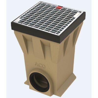 ACO Drain Pointlock pontszerű összefolyó öntöttvas kerettel és horganyzott acél ráccsal