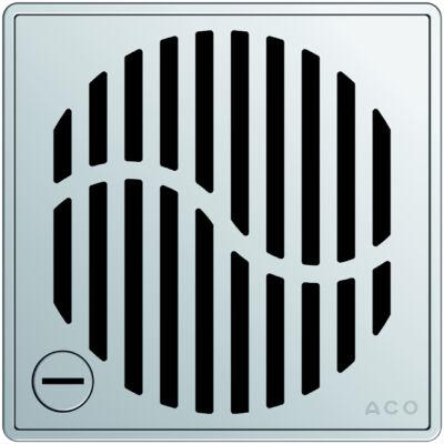 Aco EXCLUSIVE szögletes hullám mintás, rögzíthető padlóösszefolyó rács